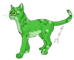 Creeper Cat Pixel by Olive-and-an-Arrow