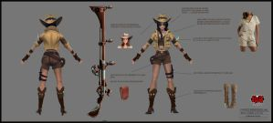 Riot Games- Safari Caitlyn Skin by SavoryBaconist