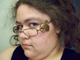 Steampunk Glasses -Worn Left- by I-Am-Imaginary