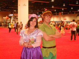 Rapunzel and Peter by ScorpioMonkey