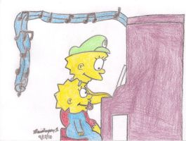 Lisa Playing Piano by MarioSimpson1