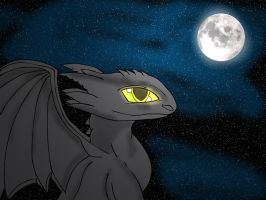 Toothles Under the Moon by Zach-58