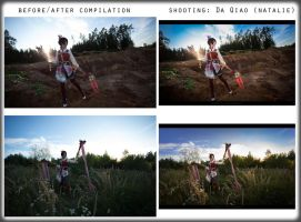 before/after compilation - Da Qiao by theDevil-photography
