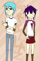 2D and Noodle by NoShakingThrone