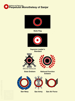 redesign | Flags and Emblems of Sanjar by vlitramonster