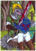 Raptor ''The Killer''  -Velociraptor + Link- by raptorthekiller