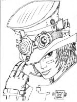 STEAMPUNK GIRL by BLUEHAWK-55