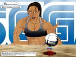 Beach Volleyball with Sheva by BlackSandrock10