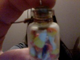 tiny candy corn in a jar by muffinthehamster11