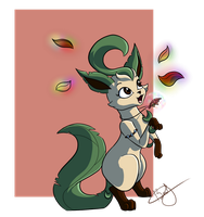 Request: Antheia The Leafeon by beatrizearthbender