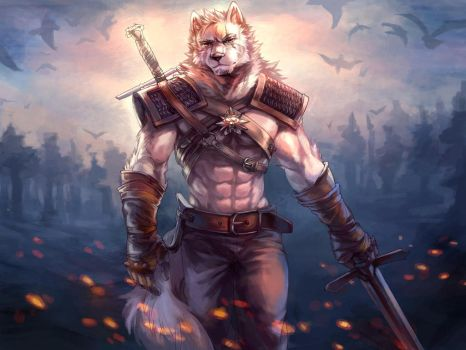 Geralt of Rivia - The White Wolf by LonerBear