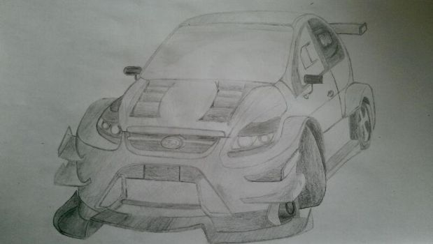 Ford Focus RS racing spec (the crew) with shadows by clouddasher