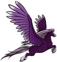 OPEN! Purple Pegasus Draw to Adopt by DragonsFlameMagic
