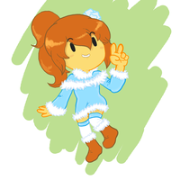COMISSION - OC Coco in her winter outfit by poserocker