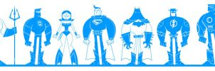 Justice League of America - Vector by funky23