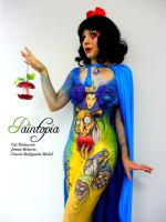 Snow Fright bodypaint Paintopia Pro Beauty cutesyl by Bodypaintingbycatdot