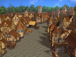 Medieval Town by Poopgoblyn