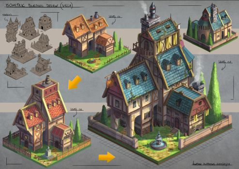 Isometric Villa Design by JonathanDufresne