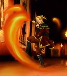 Dawna the Firebender by hybridflowers