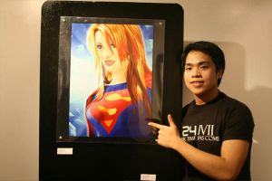 SUPERGIRL in art exhibit by supermanisback