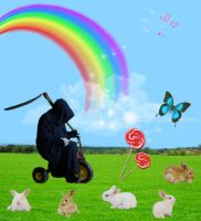 Death Goes to HappyJoy Land by Rosary0fSighs