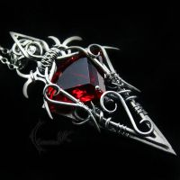 QTULMARX - silver , red quartz and garnet by LUNARIEEN