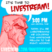 Livestreaming Today! by annieawesomesauce