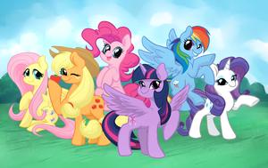 Mane 6 by peachiekeenie