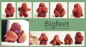 Bigfeet - SOLD OUT by Bittythings