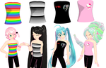 MMD Strapless tops + Download by Aira-Melody