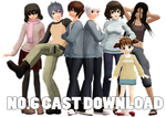 MMD No.6 Models Download Set by kitzabitza