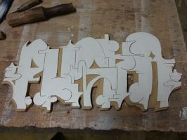 Trvst - Graffiti Wood Letter by satannabis