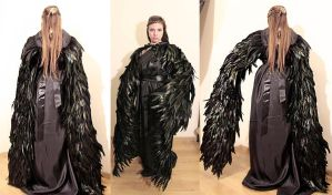 Maleficent wings cape by Pinkabsinthe
