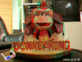 Anaglyph 3D DK papercraft by Gipi2009