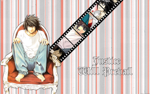L Lawliet Wallpaper by Astral-17