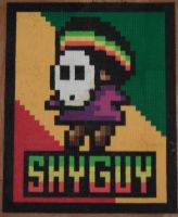 Rasta Shy Guy Bead Sprite by TheSuperBoris