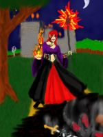 Should't Annoy a Sorceress (WIP digital color4) by dhbraley