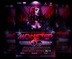 I'M A MOTHERFUCKIN' MONSTER FLYER by yuval10203