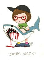 Shark Week on Discovery Channel by zombielily