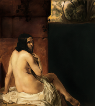 Study of 'Susanna Al Bagno' by Francesco Hayez by raisaoren