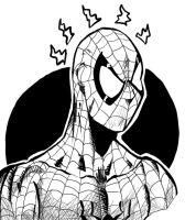 Spidey inks by Lightning-Powered