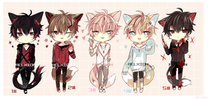 [CLOSED] LineHeart Adopt*9 by Relxion-kun