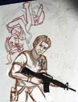 VERY early Uncharted sketch WIP by Meadowknight