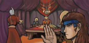 The War Council of Sala-ad-Din by enhui