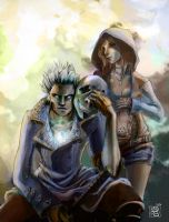 Vergil and Kat (colour) by titete
