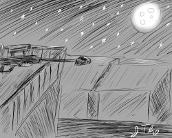 Sniper On a Moonlit Night by cuttincows