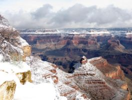 Snow at the Canyon by LaurelPhotoandCraft