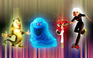 Monsters Vs. Aliens Group Wall by 878952