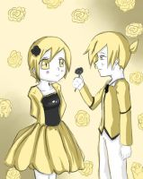 Rin and Len - Servent of Evil by LilHeart