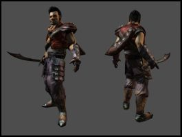 Travelling Warrior 3D game art by SLabreche